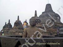 Храм Боробудур, ступы, будда, Ява,Индонезия