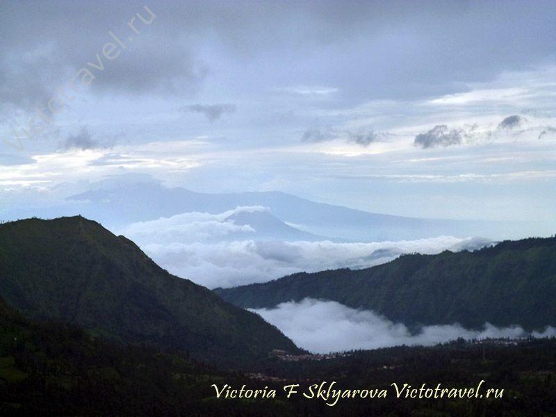 рассвет в горах, Бромо, остров Ява, Индонезия
