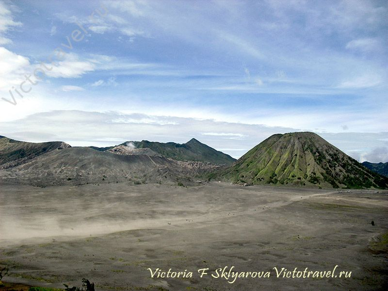 Вулкан Бромо, кальдера, гора Батук, Индонезия, Ява