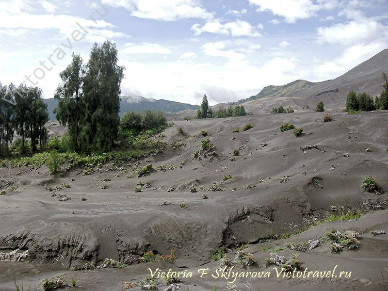 Песчаные дюны у вулкана Бромо