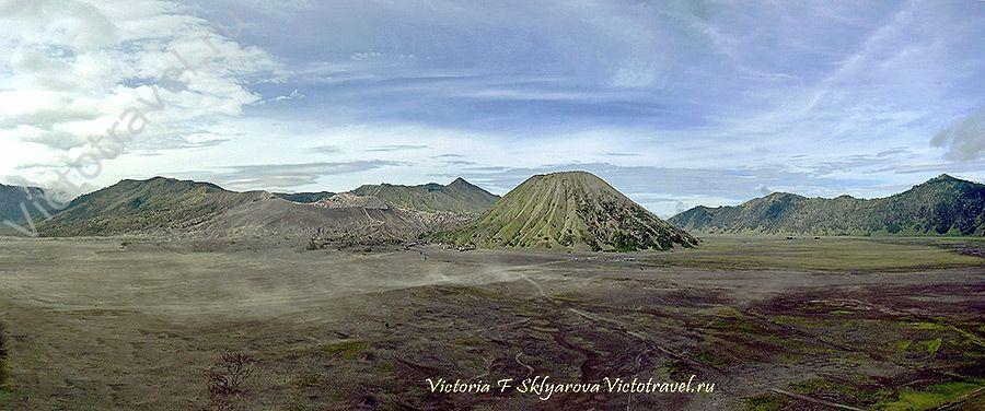 Вулкан Бромо, гора Батук, Индонезия, Ява
