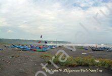 лодки, море, песок, Ява, Парангритис, Индонезия