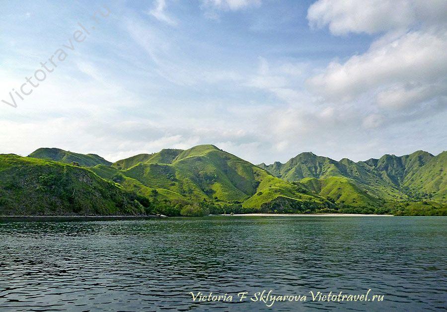 Национальный парк Комодо, море, остова, путешествие по Индонезии