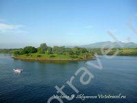 остров Гили, море, корабль Ломбок - Флорес