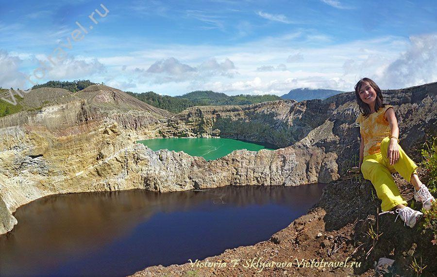 Разноцветные озера вулкана Келимуту, Индонезия картинки