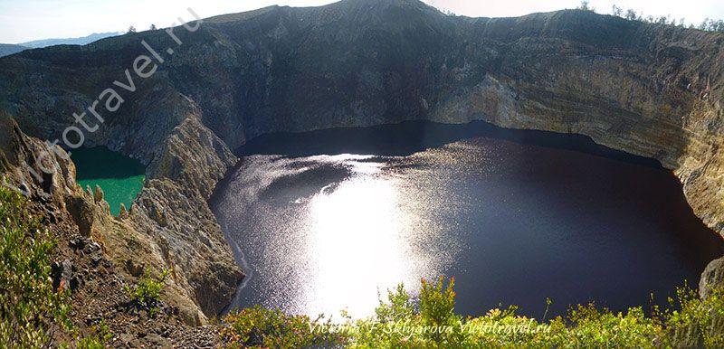 Красное озеро вулкана Келимуту, остров Флорес, Индонезия, мои путешествия
