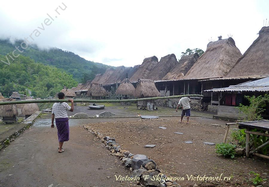 Традиционная деревня Бена, Флорес, Индонезия