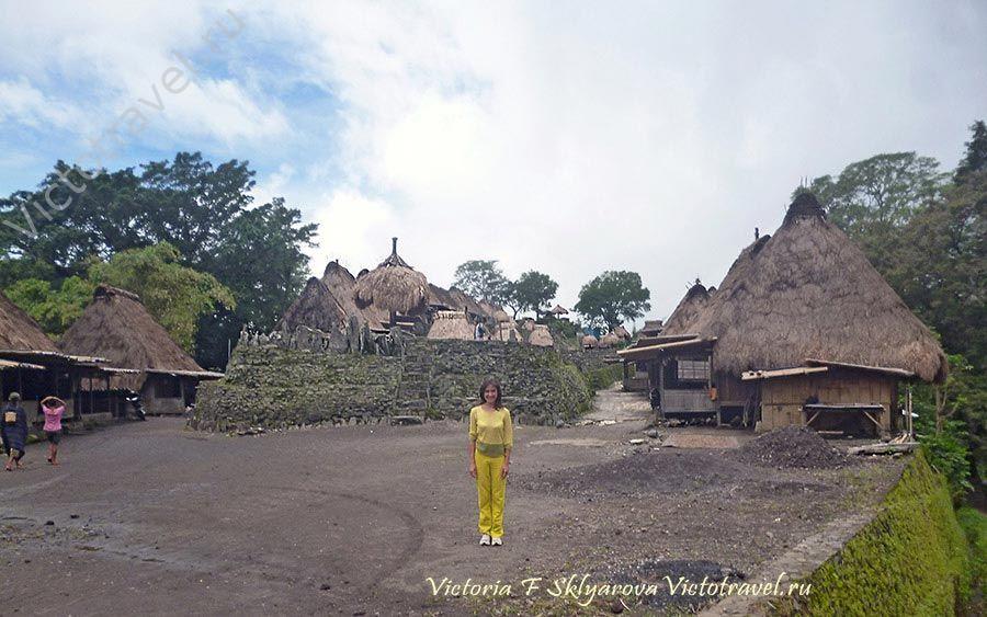 Бена - традиционная деревня народности нгада, Флорес, Индонезия