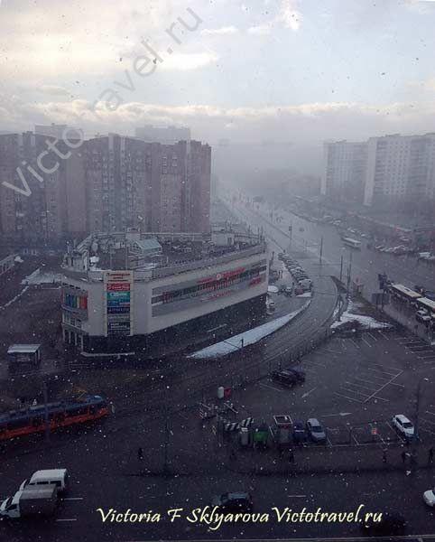 перемены, весна, метель в Москве